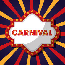 Carnival Fair Festival Board Sign Vector Illustration
