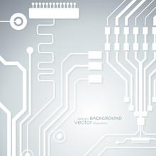 Vector Circuit Board Illustrat...