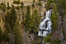 Undine Falls In Yellowstone National Park