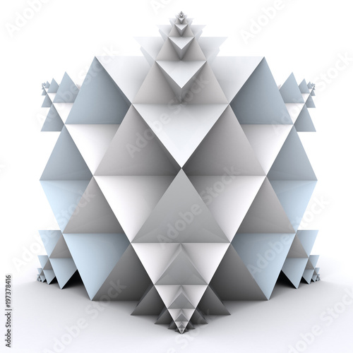 3D illustration of abstract triangular shapes  © vexworldwide