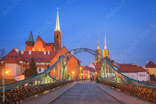 fototapeta na drzwi i meble Wroclaw, Poland- View of the old town Ostrow Tumski