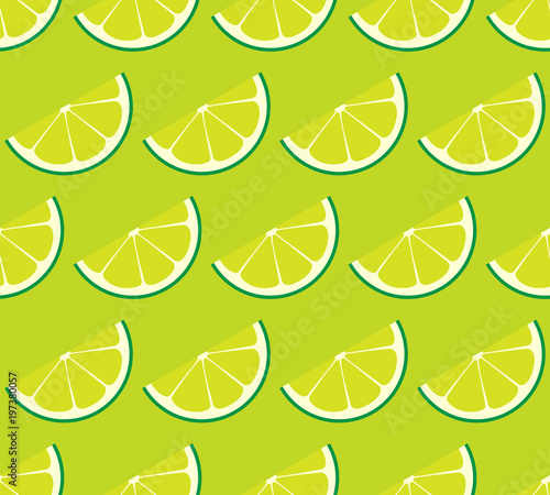 Limeade Lime Seamless Vector Pattern Tile Rows Of Green Lime Half