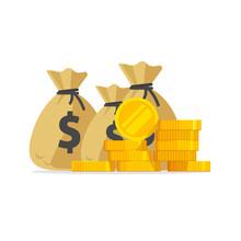 Money Vector, Big Pile Or Stac...