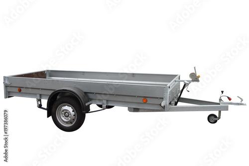Open car trailer.