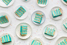 Birthday Cake Slices From Above