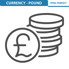 Currency - Pound Icon. EPS 8 F...