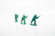 Plastic Toy Soldiers Running