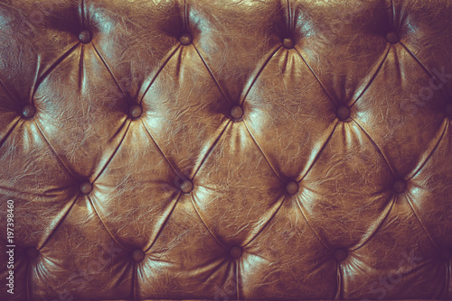 Fototapety, obrazy: Brown Leather Sofa Texture
