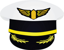Pilot's Hat. Vector Illustration