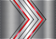Abstract Silver Red Line Light...