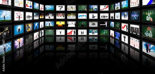 Fotografía  Screen showing business success