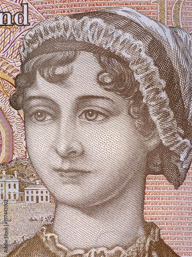 Valokuva Jane Austen portrait from English money