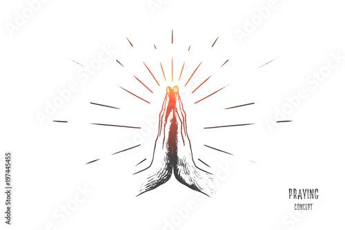 Fotomural Praying concept
