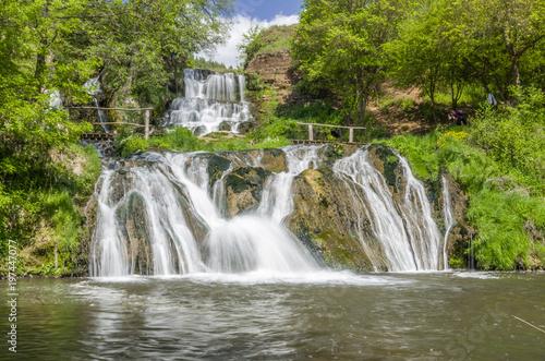 Fototapeten Wasserfalle Dzhurin waterfall, near Chervonograd in Ukraine