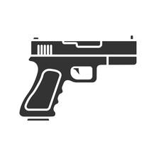 Gun, Pistol Glyph Icon