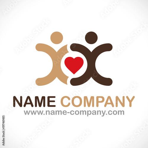 Fotografia  logo aide association caritatif soutien
