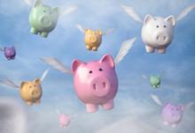 Fliegende Sparschweine Blauer ...