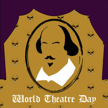 World Theatre Day Vector Minim...