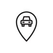 car parking location outlined vector icon. Modern simple isolated sign. Pixel perfect vector illustration for logo, website, mobile app and other designs