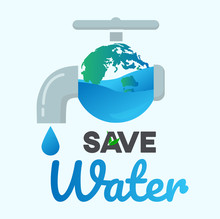 Save Water Graphic Design Vect...
