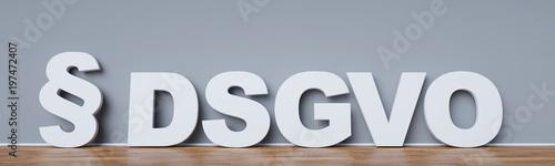 Cuadros en Lienzo  Datenschutz-Grundverordnung (DSGVO) Konzept