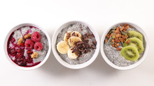 Assorted Chia Pudding And Fruits