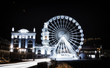 Wheel of View at Kontraktova Square, Kiev. Night city.