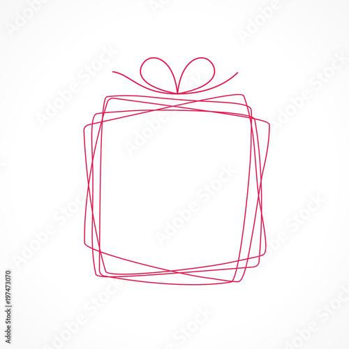 Obraz na plátně cadeau offre, vecteur