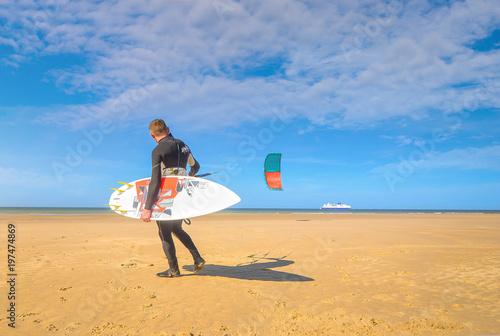 plage de rêve pour le kitesurf