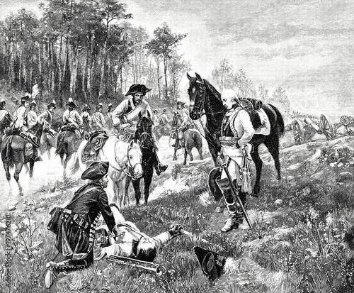 Soldaten nach der Schlacht Canvas Print
