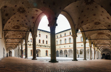 Medieval Courtyard At Milan's ...