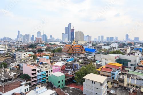 vue aérienne de chinatown Poster