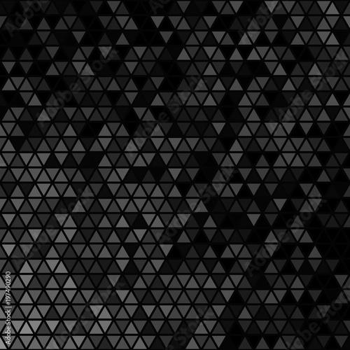 Fotografie, Obraz  Black retro triangular grid background template design