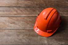 Orange Protective Safety Helmet