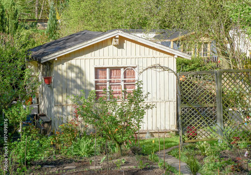 Fotografía Gartenlaube in einem Kleingarten
