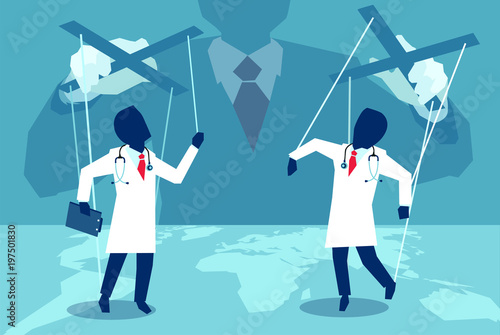 Fotografie, Obraz  Vector of unknown manipulating with doctors