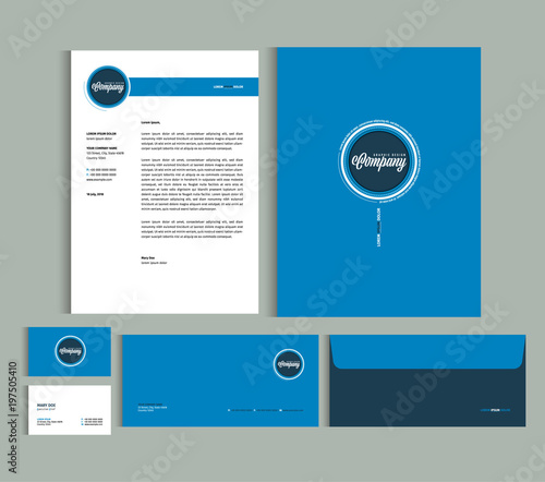 Business identity design templates  Stationery set