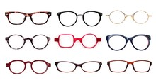 Set Of Glasses Isolated On Whi...