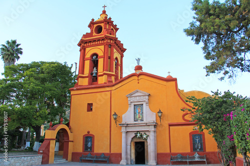 La Parroquia de San Sebastian en el Pueblo de Bernal Mexico #197510807