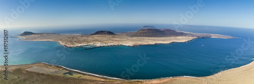 Printed kitchen splashbacks Canary Islands view on Graciosa Island, Canary Islands
