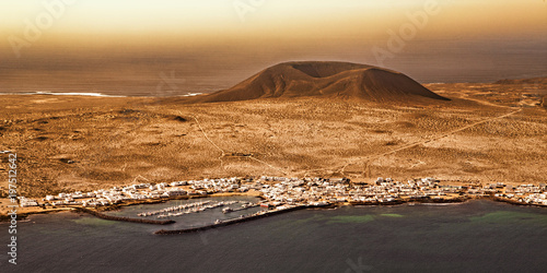 Deurstickers Canarische Eilanden view on Graciosa Island, Canary Islands