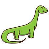 Fototapeta Dinusie - Cute cartoon dinosaur isolated on white background. Vector illustration
