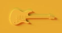 Yellow Electric Guitar 3d Illu...