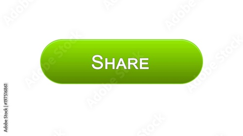 Poster de jardin Macarons Share web interface button green color, social network, internet site design