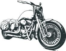 Vintage Custom Motorcicle Grap...