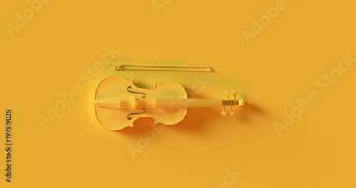 Fotografía Yellow Violin 3d illustration