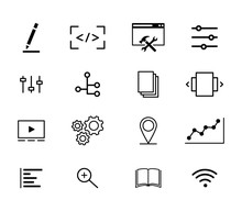 Collection Of Icons, Online Bu...