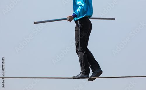 rope walker,tensioned rope