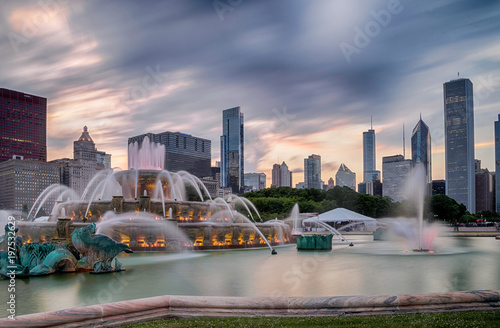Buckingham fountain in Grant Park, Chicago