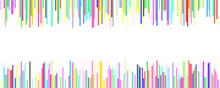 Banner Background Template Design - Horizontal Vector Graphic From Vertical Rounded Stripes On White Background